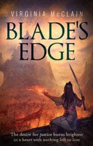 Cover design by Design for Writers using artwork provided by client for Blade's Edge by Virigina McClain, historical fiction